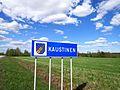 Kaustinen municipal border sign.jpg