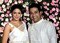 Kavita Kaushik and Ronit Biswas at Kapil and Ginny Sharma's wedding, 2018.jpg