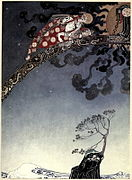 Kay Nielsen - East of the sun and west of the moon - and flitted away as far as they could from the castle.jpg