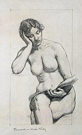 Kenyon Cox nude study