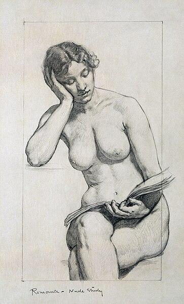 Рисунок голой женщины