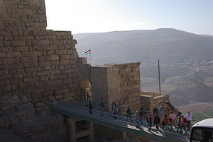 Karak Governorate - The Kerak crusader castle in Al Karak is one of the largest castles in the Levant region