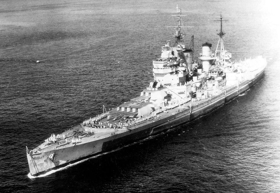 King George V class battleship 1945