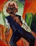 Kirchner, Ernst Ludwig - Alter Bauer - 1919 - 1920 -.jpg