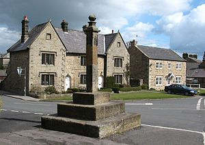 Kirkby Malzeard - The market cross at Kirkby Malzeard, the village was the site of a market for around 700 years