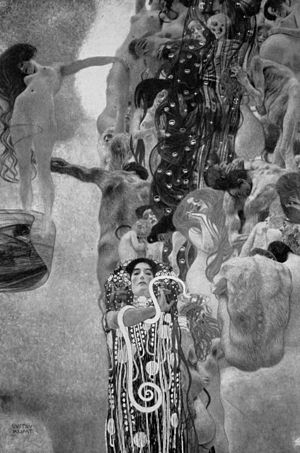 Klimt University of Vienna Ceiling Paintings - Medicine, 1899–1907
