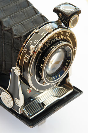 Kodak Vollenda 620 camera, built in the 1930s.