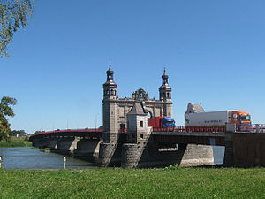 Lithuania–Russia border - Queen Louise Bridge over the border river Neman at Sovetsk