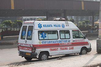 Kolkata Police Force - A Kolkata police ambulance