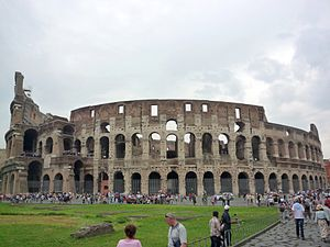 Rome, the Coloseum, originally known as the Fl...
