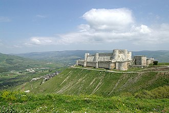 Raymond II, Count of Tripoli - Krak des Chevaliers: the large fortress built by the Knights Hospitaller on the land that Raymond had granted to them in 1142