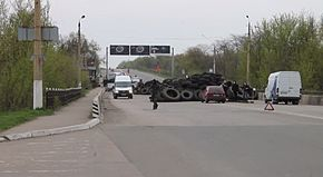 Kramatorsk checkpoint of pro-Donetsk forces.jpg