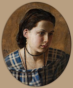 Kristian Zahrtmann - Portrait of Vilhelmine Erichsen - Google Art Project.jpg