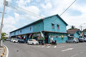 Kuala Penyu - Image: Kuala Penyu Sabah Old Shophouses 1