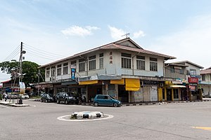 Kudat - Hakka Chinese-operated shops in downtown Kudat