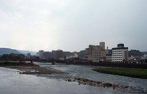 Hitoyoshi, Kumamoto - Kuma River running through the city
