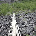Kungsleden, walkway over stone field.JPG
