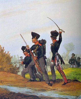 Jäger (infantry) - Image: Kurhess Jäger