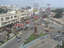 View of Rajvihar Center, one of the busiest centres in Kurnool City