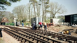 Lynton and Barnstaple Railway - Hand shunting, Woody Bay, 2003