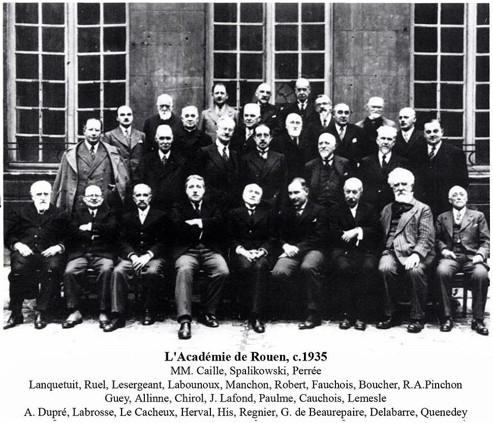 L'Académie de Rouen c.1935, Robert Antoine Pinchon, third row, right