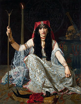 Georges Merle - L'Envoûteuse (The Sorceress), oil on canvas, Georges Merle, 1883. Birmingham Museum of Art