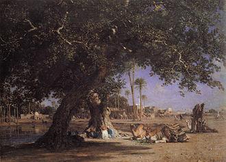 Léon Belly - View of Shubra, 1862.