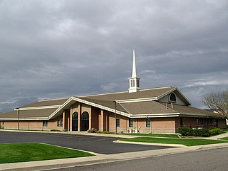 Stake (Latter Day Saints) - LDS stake center. Stake centers serve as meetinghouses for local congregations and headquarters for the local stake.