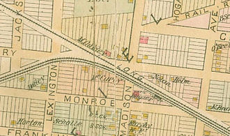 Winfield Junction station - Winfield station map, 1891