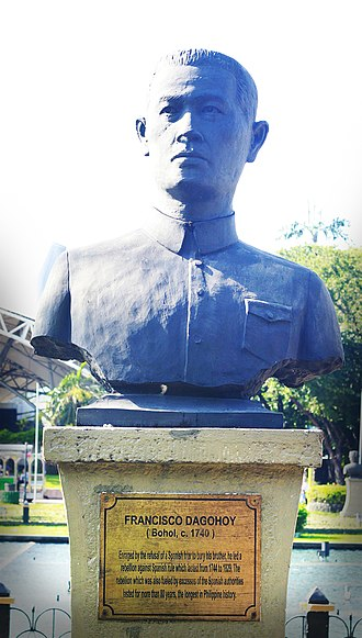 Francisco Dagohoy - The bust of Francisco Dagohoy at the Rizal Park in Manila