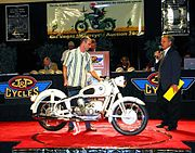 A concours R50/2 goes on the stage at MidAmerica Auctions in Las Vegas in 2007