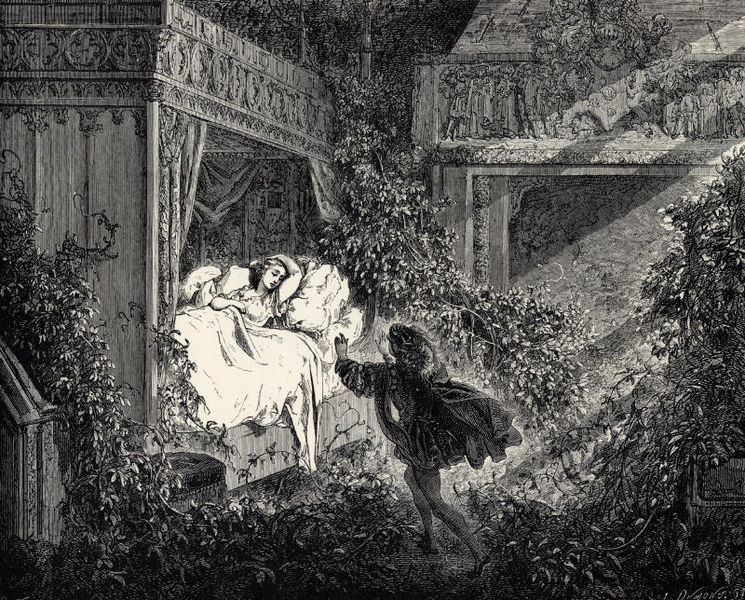 File:La Belle au Bois Dormant - Sixth of six engravings by Gustave Doré.jpg