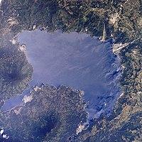 Lago de Atitlan seen from orbit.jpg