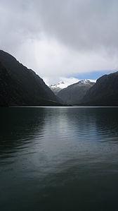 Llanganuco Lagoon in Peru