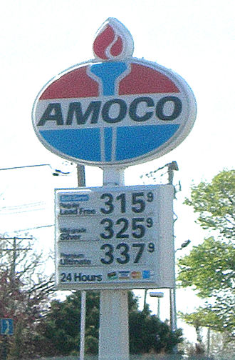 Amoco - A BP in Lake Villa, Illinois using the Amoco name (since-converted to BP signage).