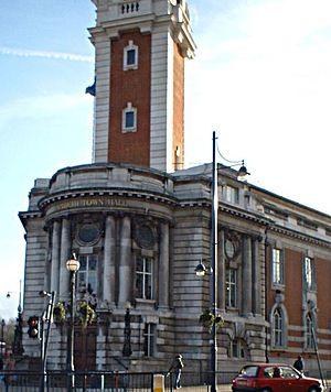 Metropolitan Borough of Lambeth - Lambeth Town Hall in Brixton