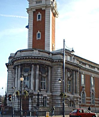 Metropolitan Borough of Lambeth - Lambeth Town Hall in Brixton