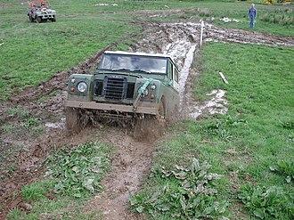 Mud bogging - Image: Land Rover Series III mud bogging