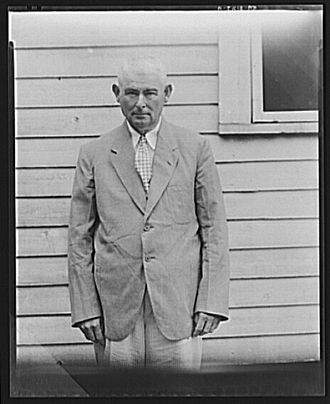 Moundville, Alabama - Landowner in Moundville, August 1936; photograph by Walker Evans