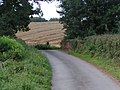 Lane, bridge and fields near Willsworthy Farm - geograph.org.uk - 951009.jpg