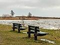 Langweerderwielen-Langwarder Wielen. Harde wind, regen, hagel en natte sneeuw op 22-02-2020. (d.j.b) 09.jpg