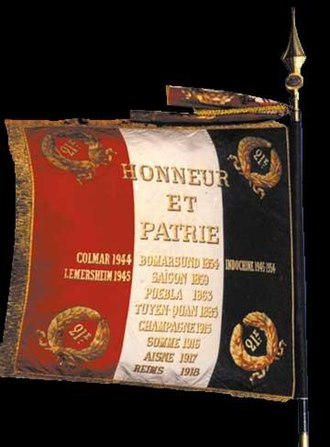 21st Marine Infantry Regiment - Regimental colors of the 21e RIMa.