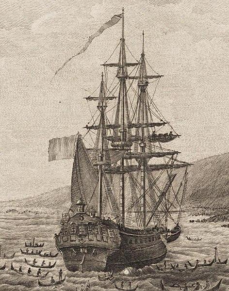 File:Le navire l'Astrolabe à Hawai en mai 1786.jpg