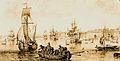 Le port de Bordeaux vu devant le château Trompette, 1776,.jpg