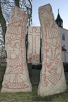 b) Études archéologiques dans 3°) Héritage de cet age 220px-Ledbergsstenen_20041231