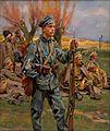 Legionista pilnujący rosyjskich jeńców, W. Kossak, 1916.jpg