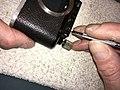 Leica II D aka Couplex rangefinder miror replacement (33498844581).jpg