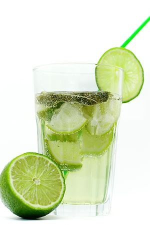 Ade (drink suffix) - A glass of limeade.