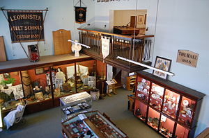 Leominster Museum - Interior of the museum, from the first-floor balcony