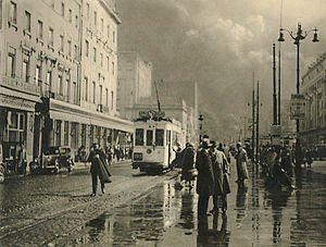 Trams in Brussels - A Brussels tram in 1937